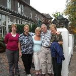 Avril and Tony with our group in front of Fernroyd House