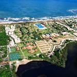 Aerial view of hotel complex, Guarajuba Beach, Bahia, Brazil