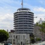 Capitol Records Tower right off of Hollywood and Vine