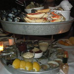 Seafood tower - $125.  Good for 4.
