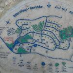 Plan of the village, fixed on a stone at the entrance.