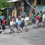 School children in parade