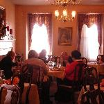 One of the charming dining rooms