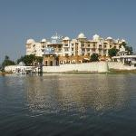 The hotel from Lake Pichola