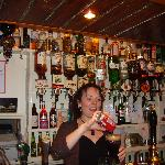 Claire at the bar, also a wonderful chef.