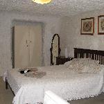 Comfortable bedroom. And dark!