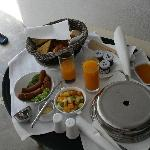 Complimentary Breakfast, you can order anything you want!