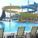 Water Slides in to main swiming pool