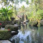 la piscine d'eau douce dans le fond de la vallée