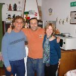 Guido & us in breakfast room