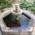 Fountain in Patio restaurant