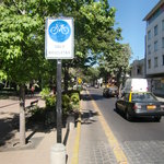 One of the bike lanes