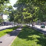 "The ""cicloway"" on Alameda Street"