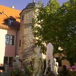 Historisches Treppenhaus im Turm