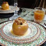 Baked apple w/ homemade granola-yum!