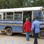 Lake Shasta Caverns trip, bus boat and cave
