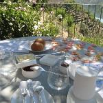 Our breakfast table one morning
