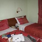 Room 123, twin beds.