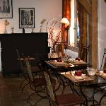 Teesalon und Frühstücksraum