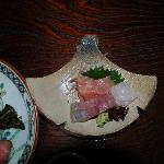 sashimi as part of meal - very fresh