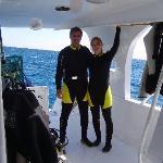 preparing for diving