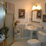Shared bathroom in Ovenell's main house