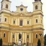 Statue of St. Ladislaus (1046-1095), King of Hungary,canonized 1192. He founded the city and the