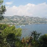 view of Ventimiglia from the Gardens