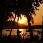 Sonnenuntergang von unserer Terasse