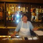 La sciura (the lady owning and running the restaurant)