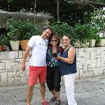 Andro & his mother......and myself!  Wonderful hospitality.....