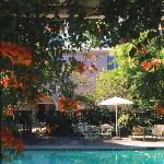 In the warmer months, we serve wine and cheese every evening by the pool. In the cooler months,