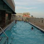 Roof top pool - was about 4' deep - perfect to refresh in after hot August days of touring.