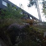 Les chambres vues de la forêt