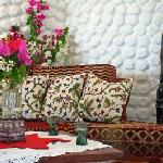 Luxurious furnishing and African artefacts