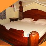 Handmade African king size beds in all guest rooms