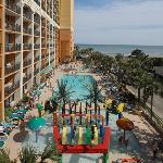 Guests of Sea Mark Tower condominiums at The Caravelle are able to use the large pool deck at Th