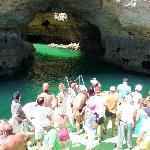 cave tour on the catamaran liana