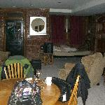 living room area;  lower level apartment