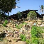 The safari lodge we stayed in on safari in Tsavo East