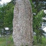 Ostersund, Sweden and a Vicking Rune stone from the past.