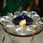 Champagne and oyster bar