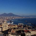 Naples, Vesuvius in the background from road to B&B