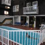 Pool and atrium