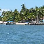 vista do porto de Boipaba