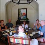 Breakfast in our last villa