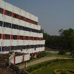 View of hotel from one of ots balcony