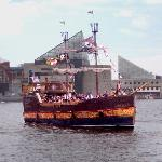 The Fearless sails through Baltimore's Inner Harbor