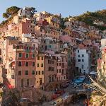 The view of Riomaggiore from the port.