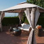 Just one of the gazebos that was perfect for curling up and relaxing